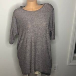 LuLaRoe Tunic Gray short-sleeve shirt S